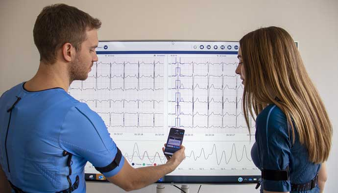 Feasibility of remote home monitoring with a T-shirt wearable device in post-recovery COVID-19 patients